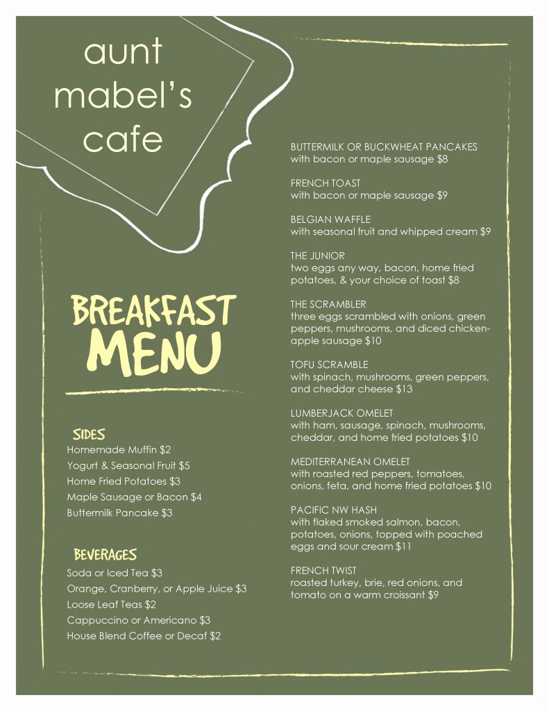Breakfast Menu Template Free Inspirational Marketing Nug S Authentic Customer Service Slinging