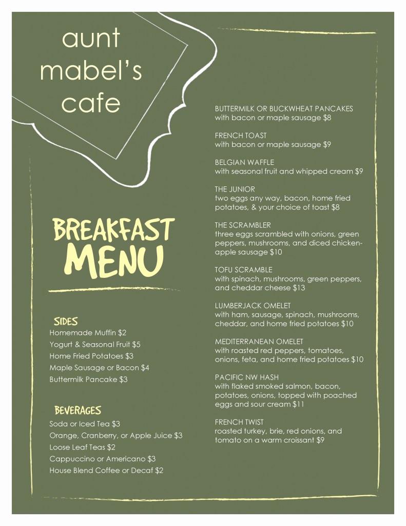 Breakfast Menu Template Free Inspirational Marketing Nug S Authentic Customer Service Slinging