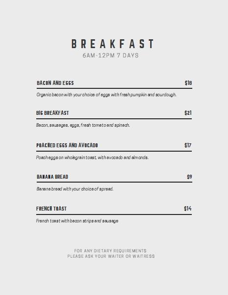 Breakfast Menu Template Free Lovely 11 Free Sample Breakfast Menu Templates Printable Samples