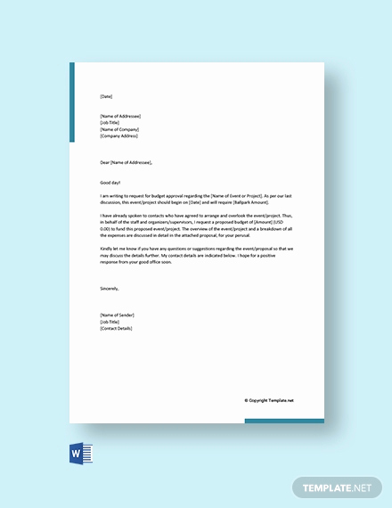 Budget Proposal Template Word Awesome Free Bud Proposal Request Letter Template Word