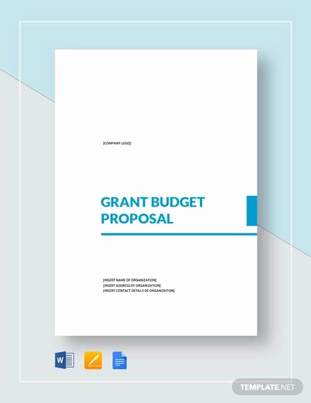 Budget Proposal Template Word Elegant Free 11 Sample Grant Proposals In Ms Word Pdf