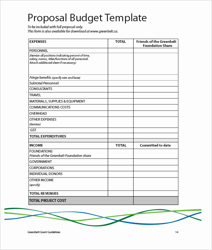 Budget Proposal Template Word Elegant Marketing Bud Template 30 Free Word Excel Pdf