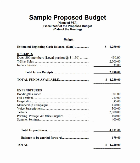 Budget Proposal Template Word Elegant Office Sample Bud Proposal Fice Bud Template