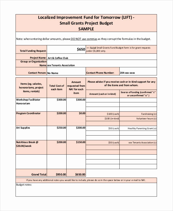 Budget Proposal Template Word Fresh Grant Bud Template 10 Free Pdf Word Documents