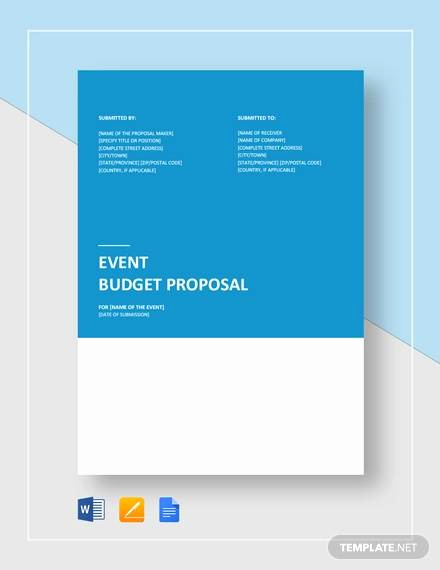 Budget Proposal Template Word New Free 20 Sample Bud Proposal Templates In Google Docs
