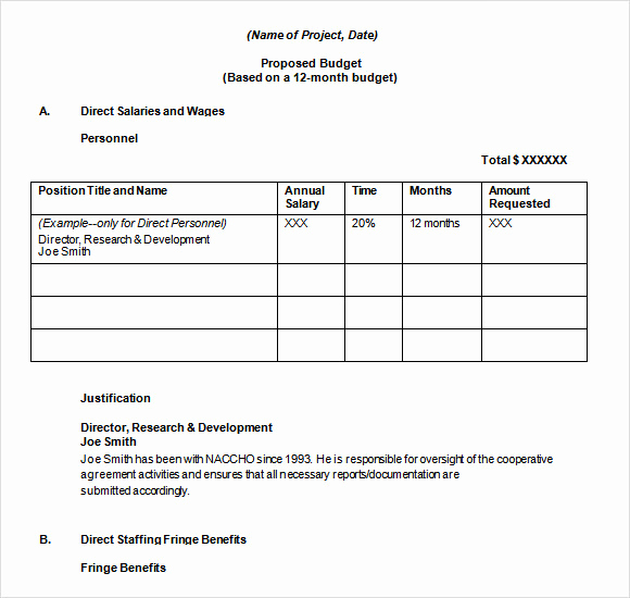 Budget Proposal Template Word Unique Free 20 Sample Bud Proposal Templates In Google Docs