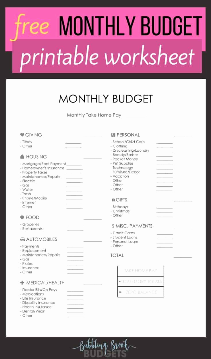 Budget Template Dave Ramsey Beautiful the Best Free Monthly Bud Printable