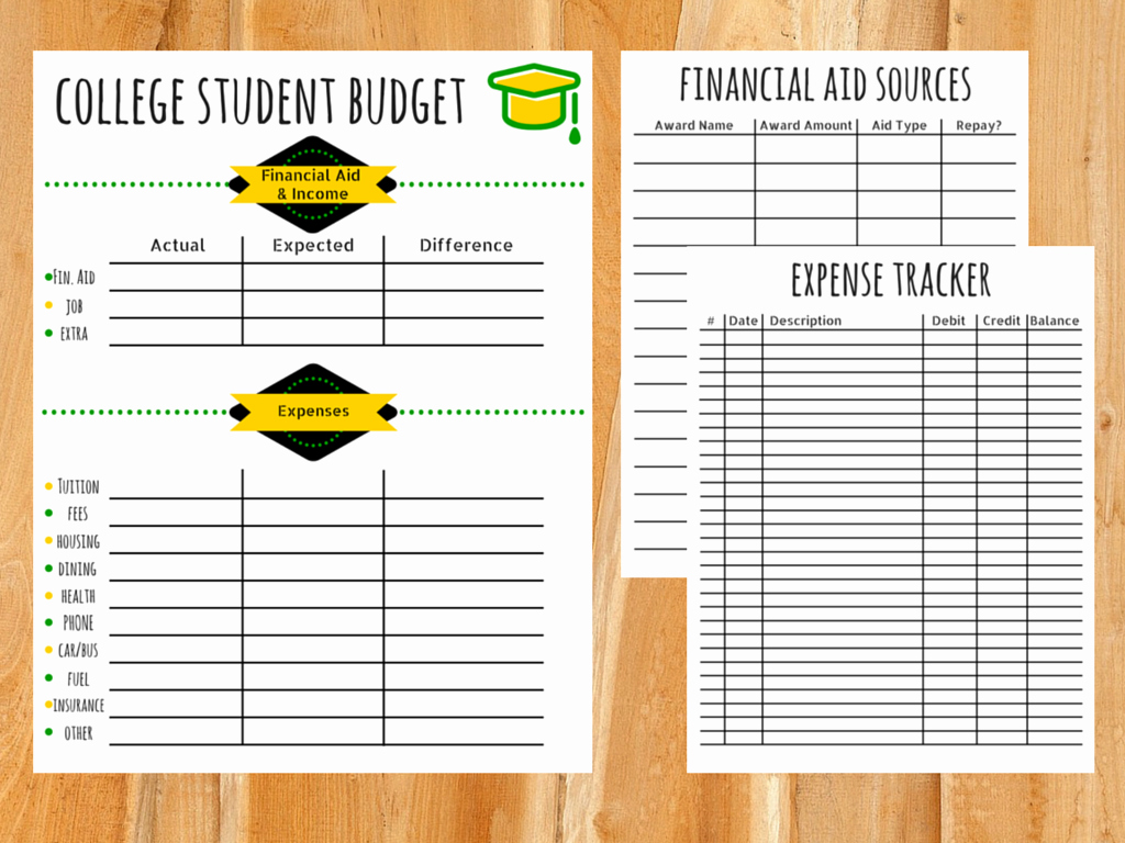 Budget Template for College Students Lovely Bud Template for College Students