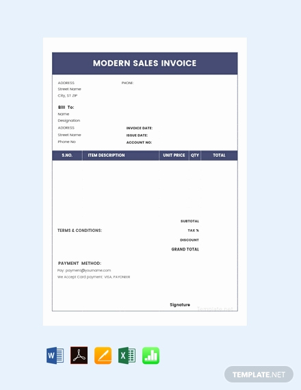 Car Sales Invoice Template Fresh 61 Free Invoice Templates In Pdf