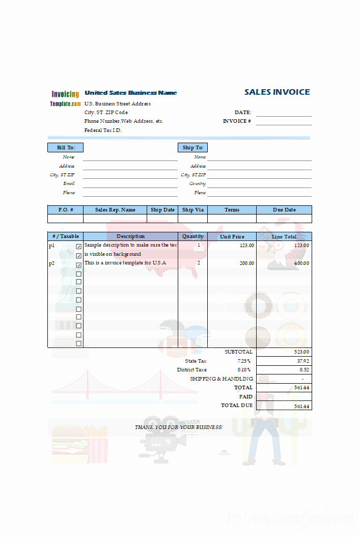 Car Sales Invoice Template Luxury Tax Invoice Templates for 11 Countries