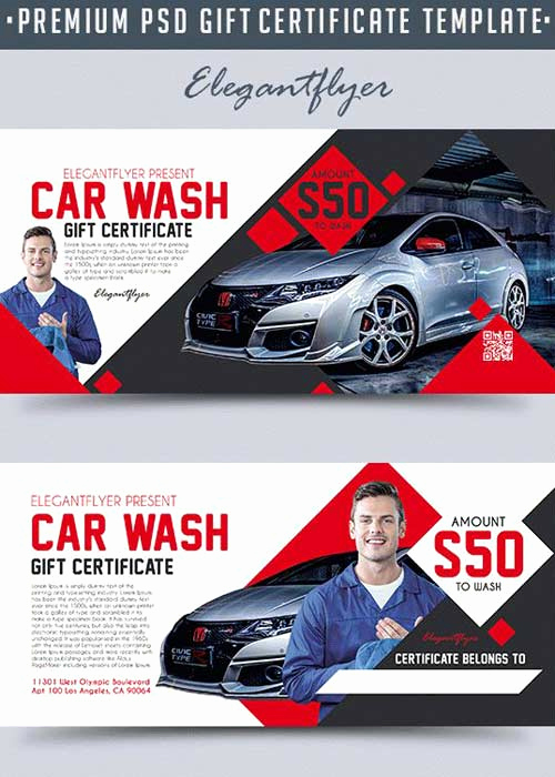 Car Wash Gift Certificate Template Beautiful Flyers Страница 4