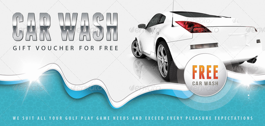 Car Wash Gift Certificate Template Elegant Car Wash Gift Voucher V12 by Rapidgraf