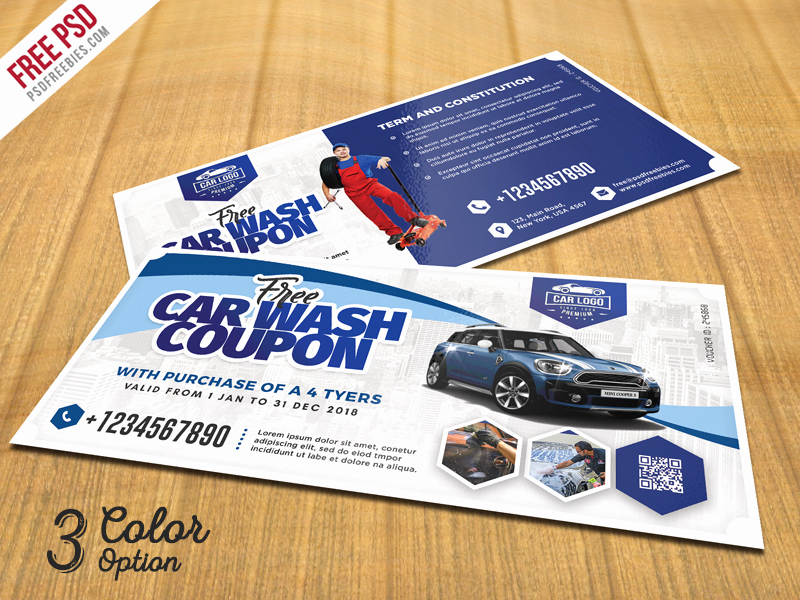 Car Wash Gift Certificate Template Inspirational Car Wash Coupon Template Psd Set