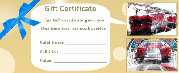 Car Wash Gift Certificate Template Luxury 16 Personalized Auto Detailing Gift Certificate Templates