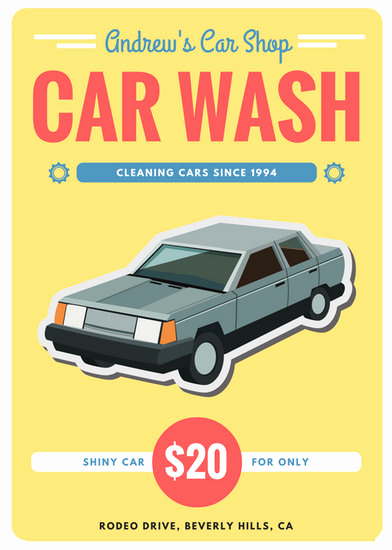 Car Wash Gift Certificate Template Luxury Customize 77 Car Wash Flyer Templates Online Canva