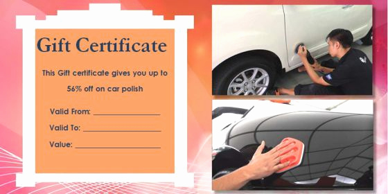 Car Wash Gift Certificate Template New 16 Personalized Auto Detailing Gift Certificate Templates
