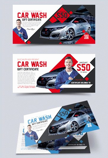 Car Wash Gift Certificate Template New Car
