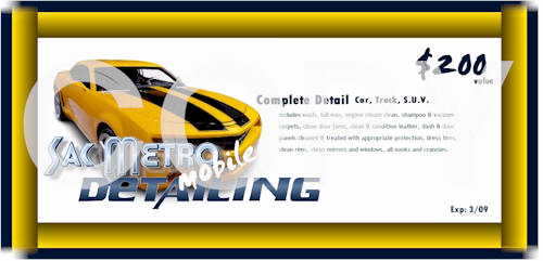 Car Wash Gift Certificate Template New Contact Sacramento Mobile Auto Detailing
