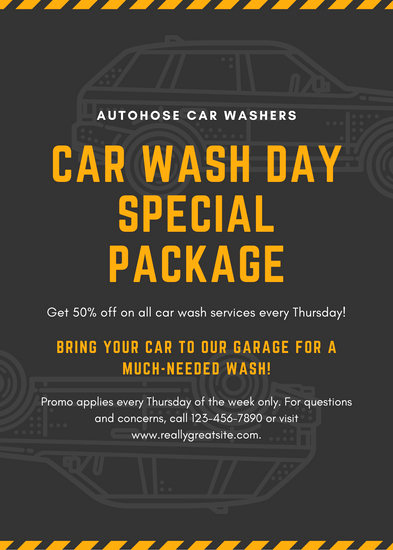 Car Wash Gift Certificate Template New Customize 44 Car Wash Flyer Templates Online Canva