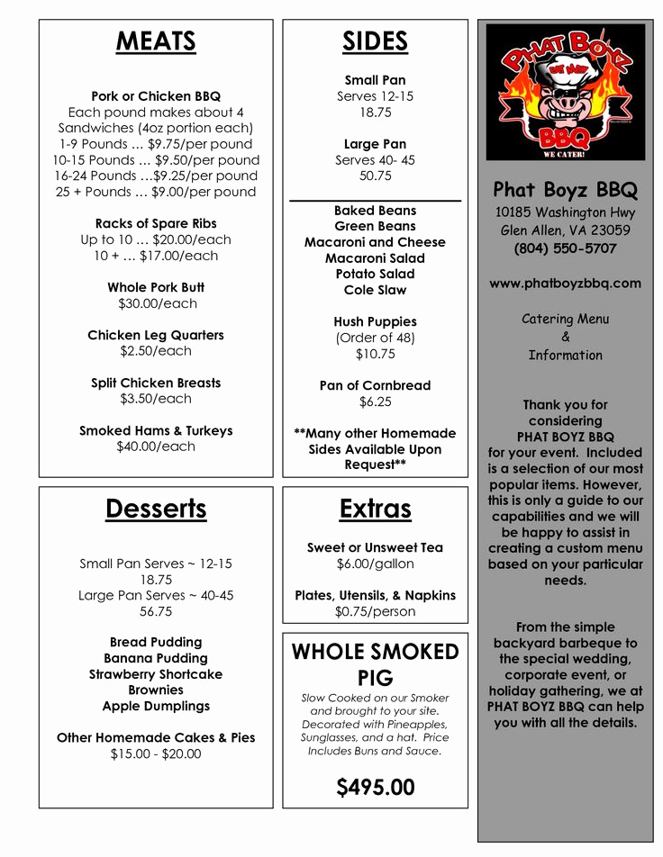 Catering Menu Template Word Awesome 20 Best Images About Catering Menu Samples On Pinterest