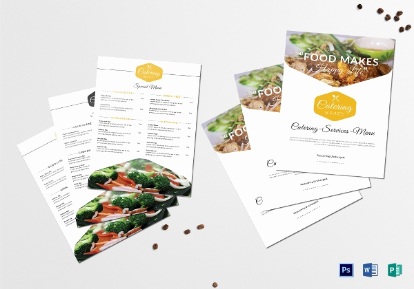 Catering Menu Template Word Beautiful 10 Catering Services Menu Templates Ai Indesign Word