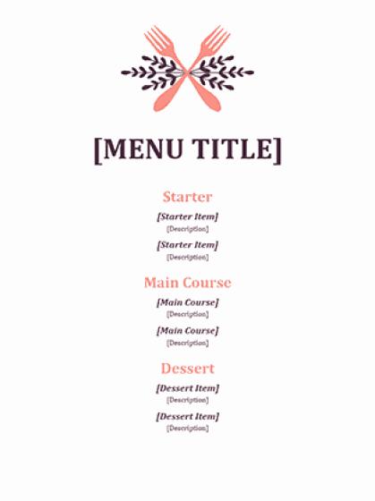 Catering Menu Template Word Beautiful 21 Free Free Restaurant Menu Templates Word Excel formats