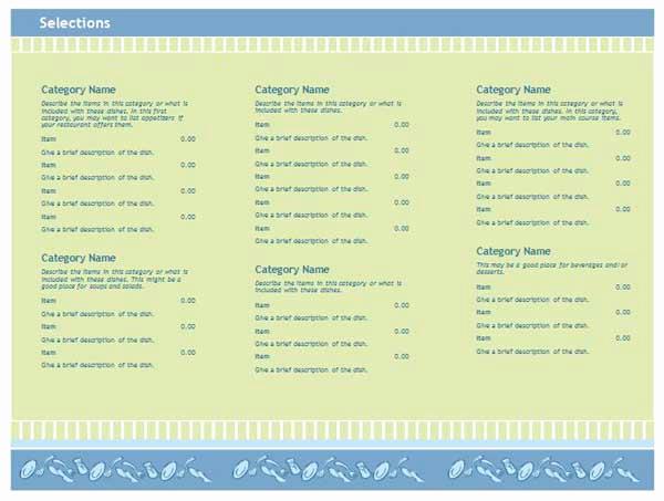 Catering Menu Template Word Fresh Free Restaurant Menu Templates Microsoft Word Templates