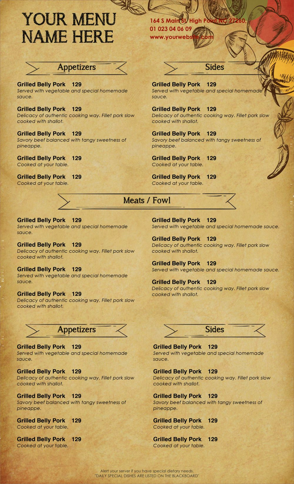Catering Menu Template Word Lovely Design & Templates Menu Templates Wedding Menu Food