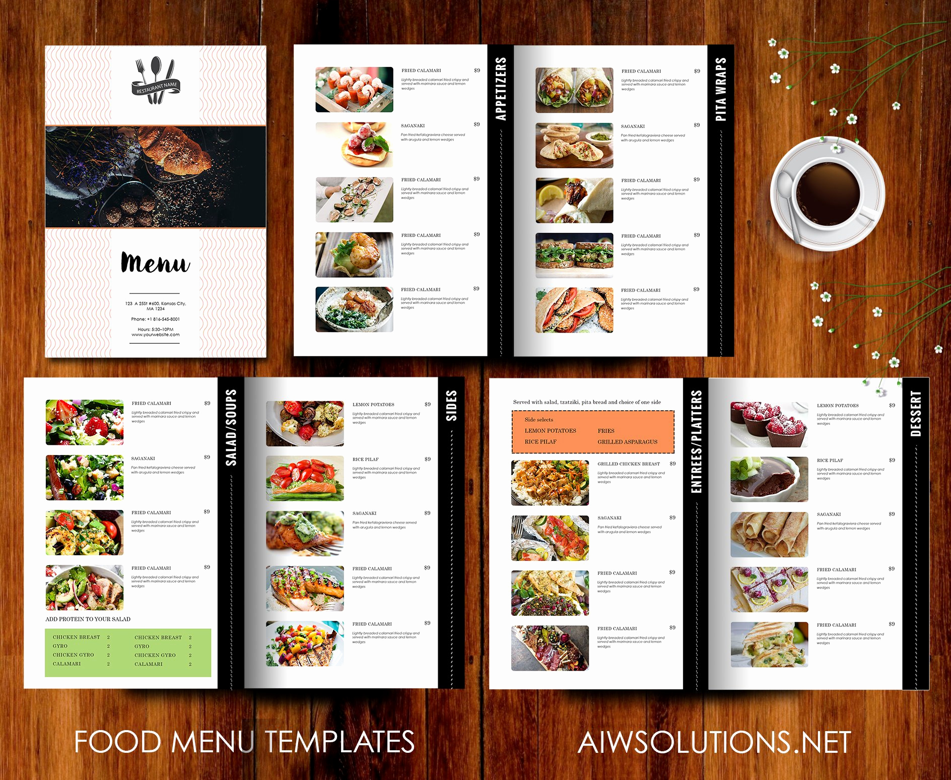 Catering Menu Template Word Luxury Restaurant Menu Template Brochure Templates Creative