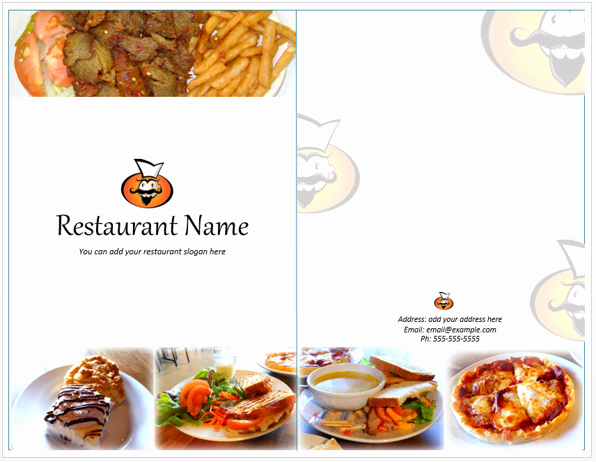 Catering Menu Template Word New Food Restaurant Menu Template Word Templates