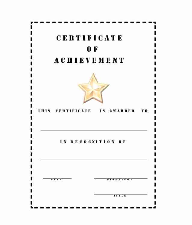 Certificate Of Accomplishment Template Awesome 40 Great Certificate Of Achievement Templates Free