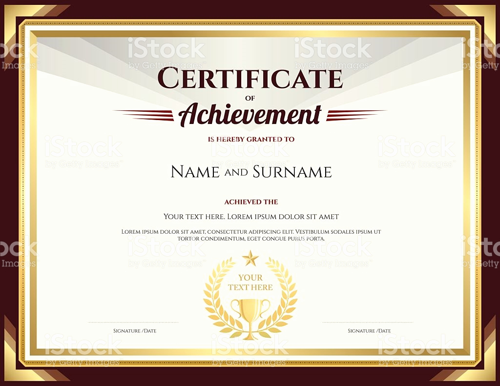 Certificate Of Accomplishment Template Awesome Stock Certificate Template
