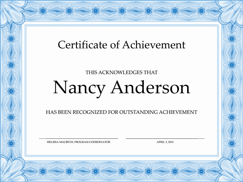 Certificate Of Accomplishment Template Beautiful Download Ac Plishment Free Certificate Templates for