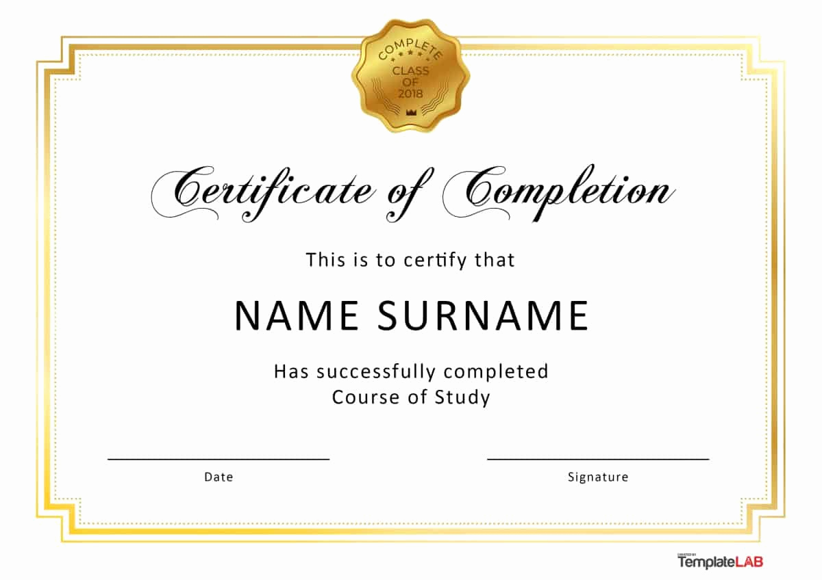 Certificate Of Accomplishment Template Best Of 40 Fantastic Certificate Of Pletion Templates [word