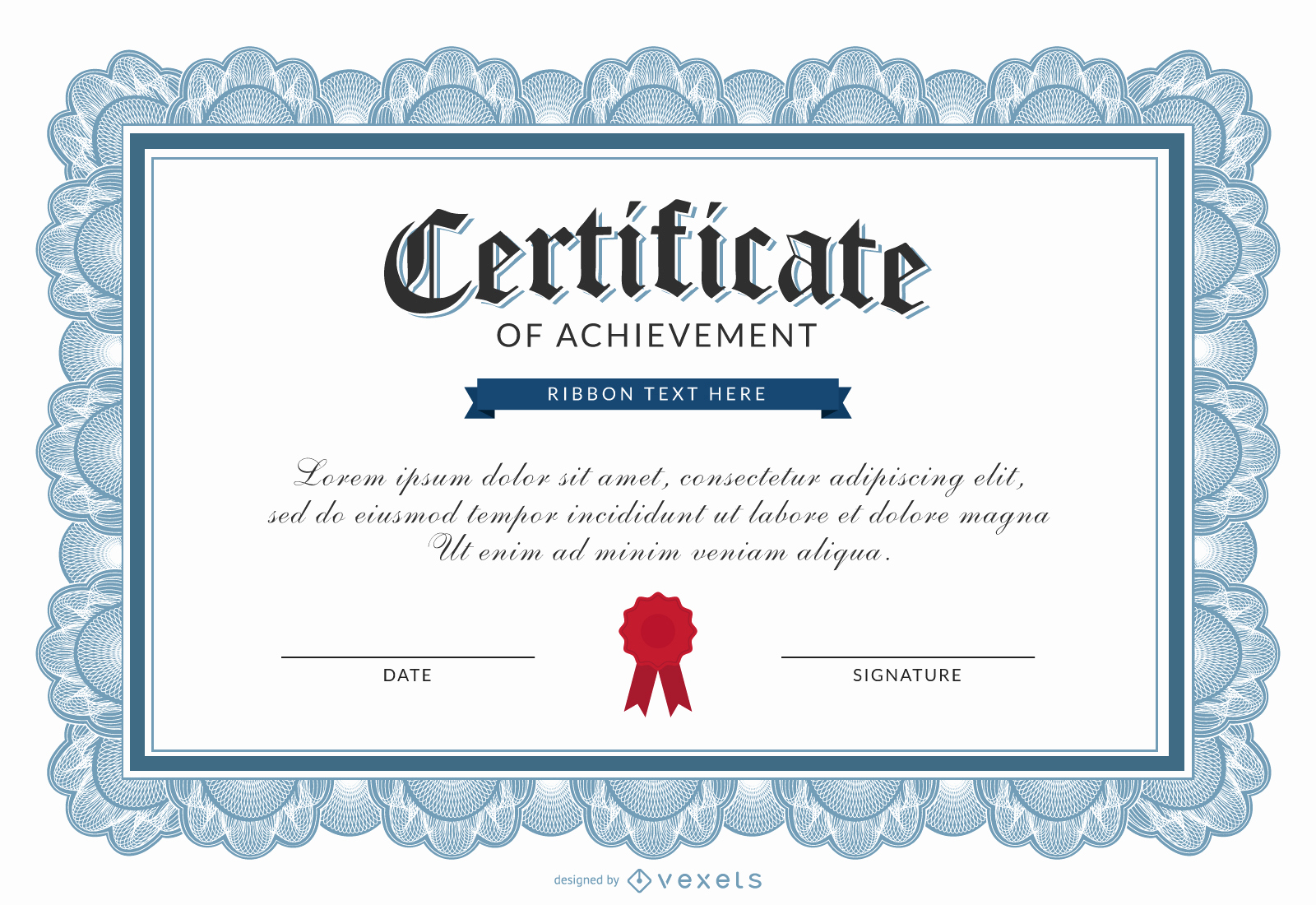 Certificate Of Accomplishment Template Fresh Certificate Of Achievement Template Vector
