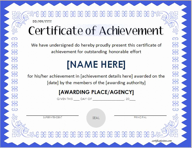 Certificate Of Accomplishment Template Fresh Scholarship Award Certificate Template