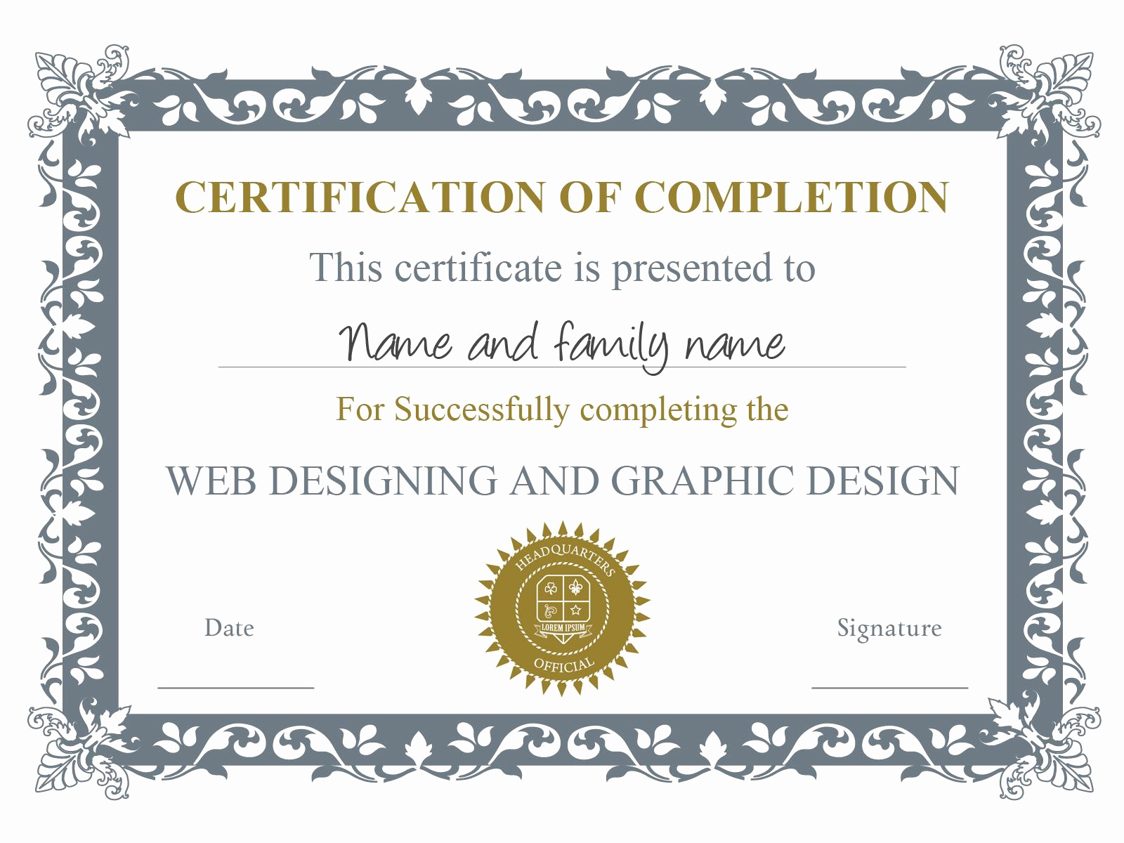 Certificate Of Accomplishment Template Inspirational Pin by Jannine Mullany On Certificate Templates