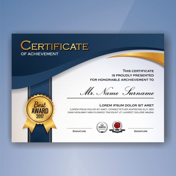Certificate Of Accomplishment Template Inspirational Printable Certificate Template 35 Adobe Illustrator