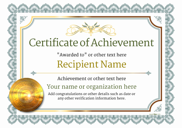 Certificate Of Accomplishment Template Lovely Certificate Of Achievement Free Templates Easy to Use