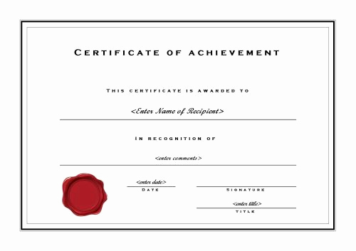 Certificate Of Accomplishment Template Luxury Free Printable Certificates Of Achievement