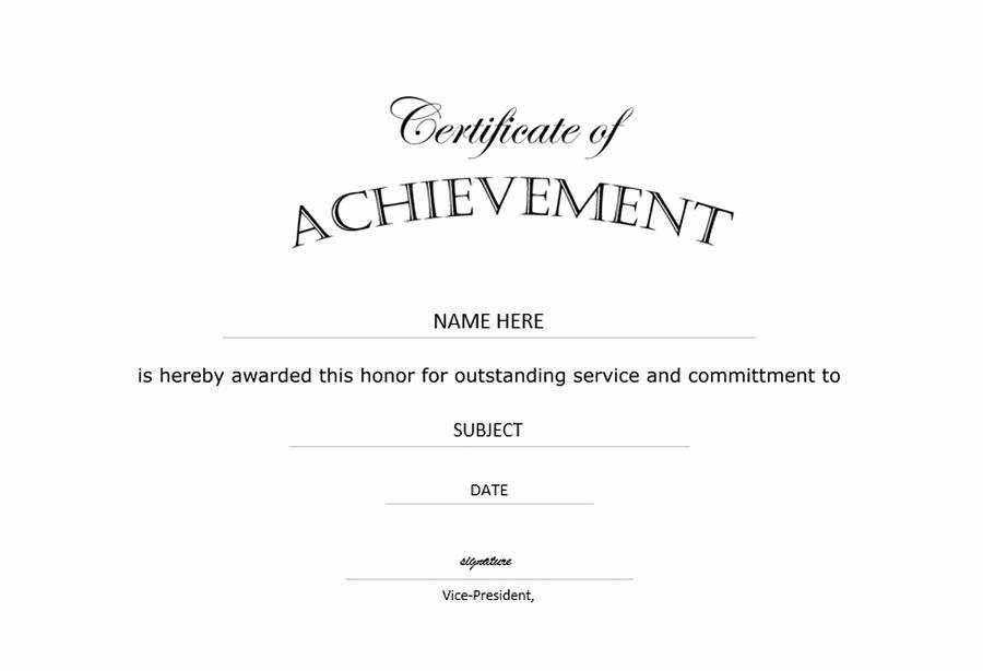 Certificate Of Achievement Template Free Beautiful Certificate Of Achievement Landscape Free Templates Clip