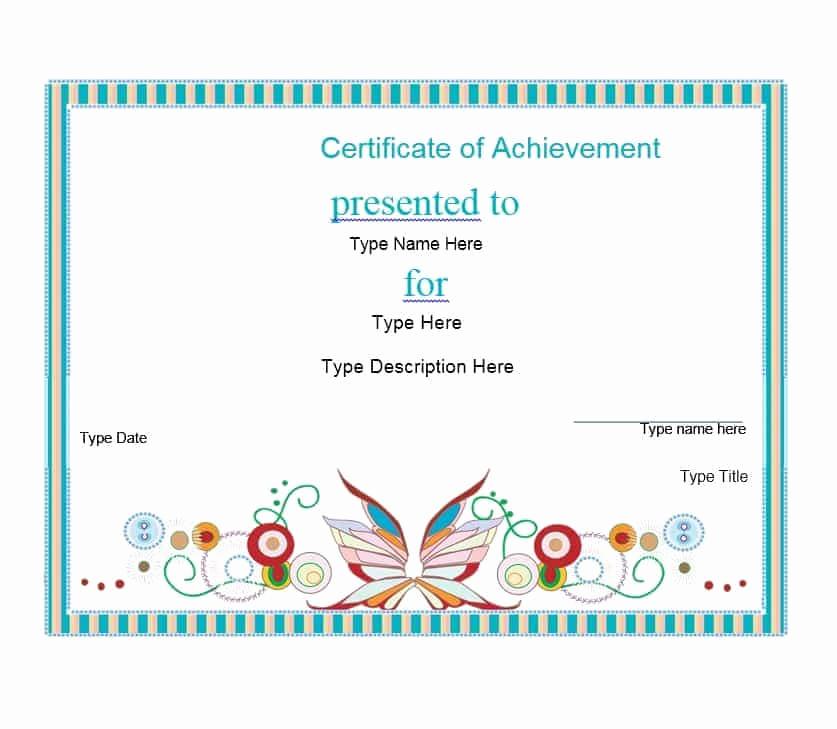 Certificate Of Achievement Template Free Best Of 40 Great Certificate Of Achievement Templates Free