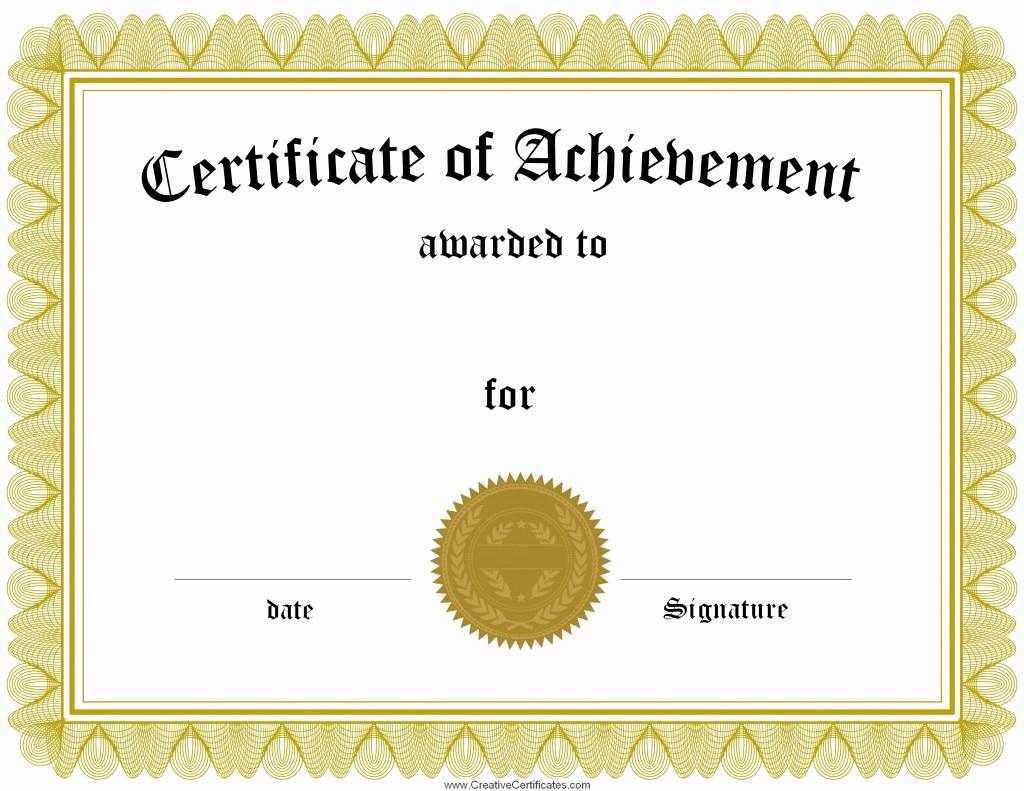Certificate Of Achievement Template Free Best Of Free Certificate Maker