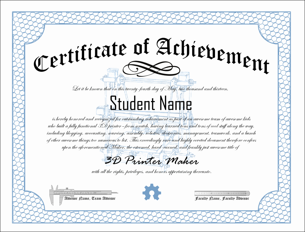 Certificate Of Achievement Template Free Elegant Print Pdf Blank Certificate Of Achievement