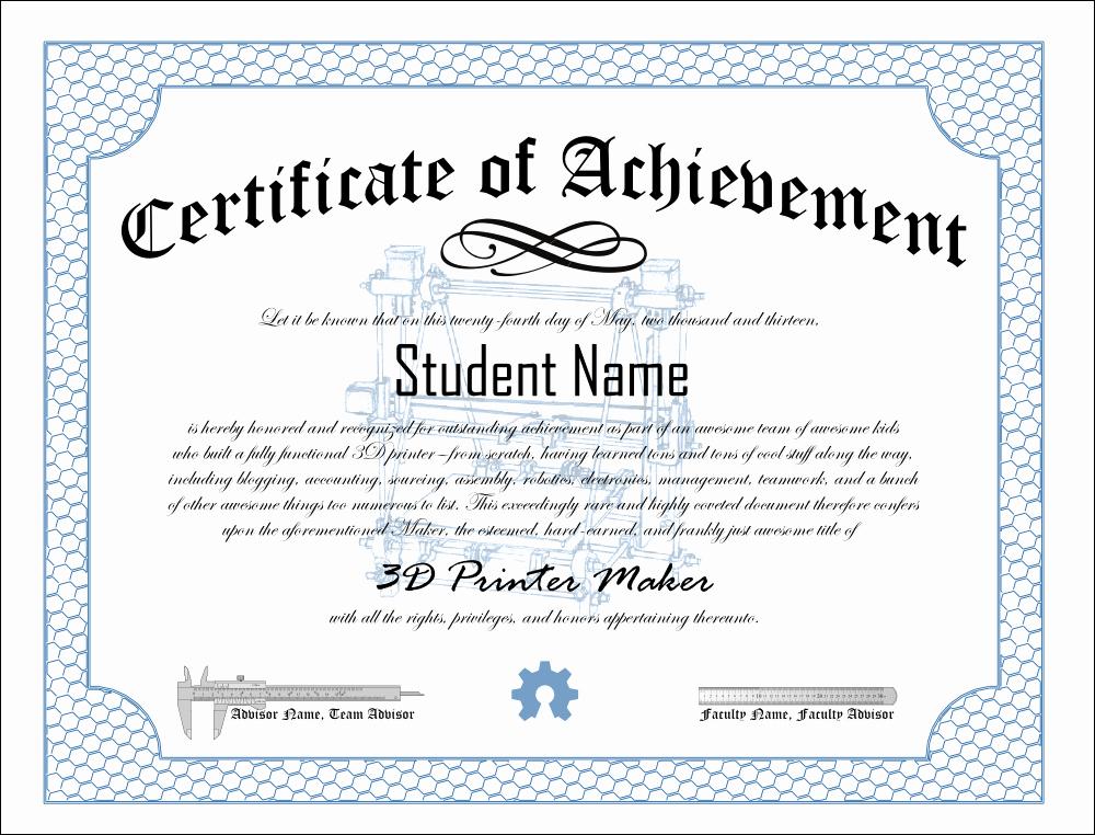 Certificate Of Achievement Template Free Elegant Print Pdf Blank Certificate Of Achievement