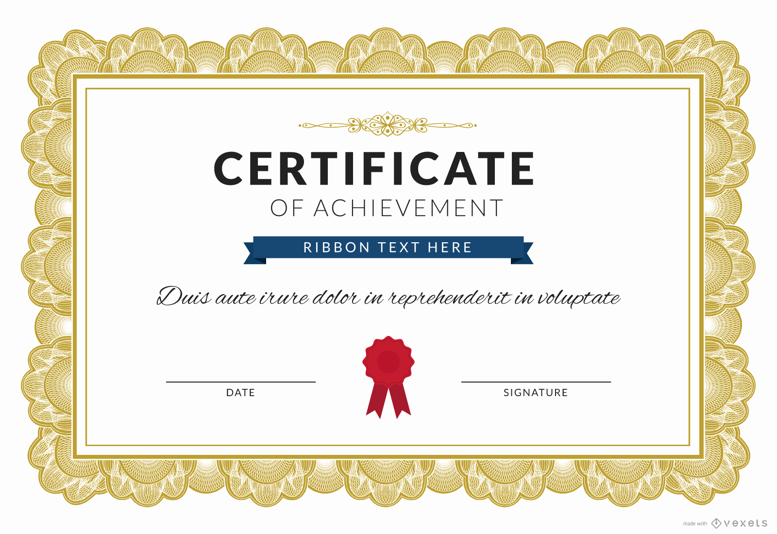 Certificate Of Achievement Template Free Fresh Certificate Of Achievement Maker Editable Design