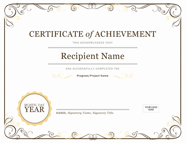 Certificate Of Achievement Template Free Inspirational New Free Achievement Certificates Templates Free