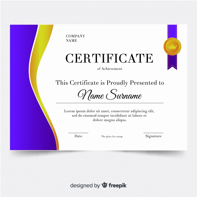 Certificate Of Achievement Template Free Lovely Certificate Of Achievement Template Vector