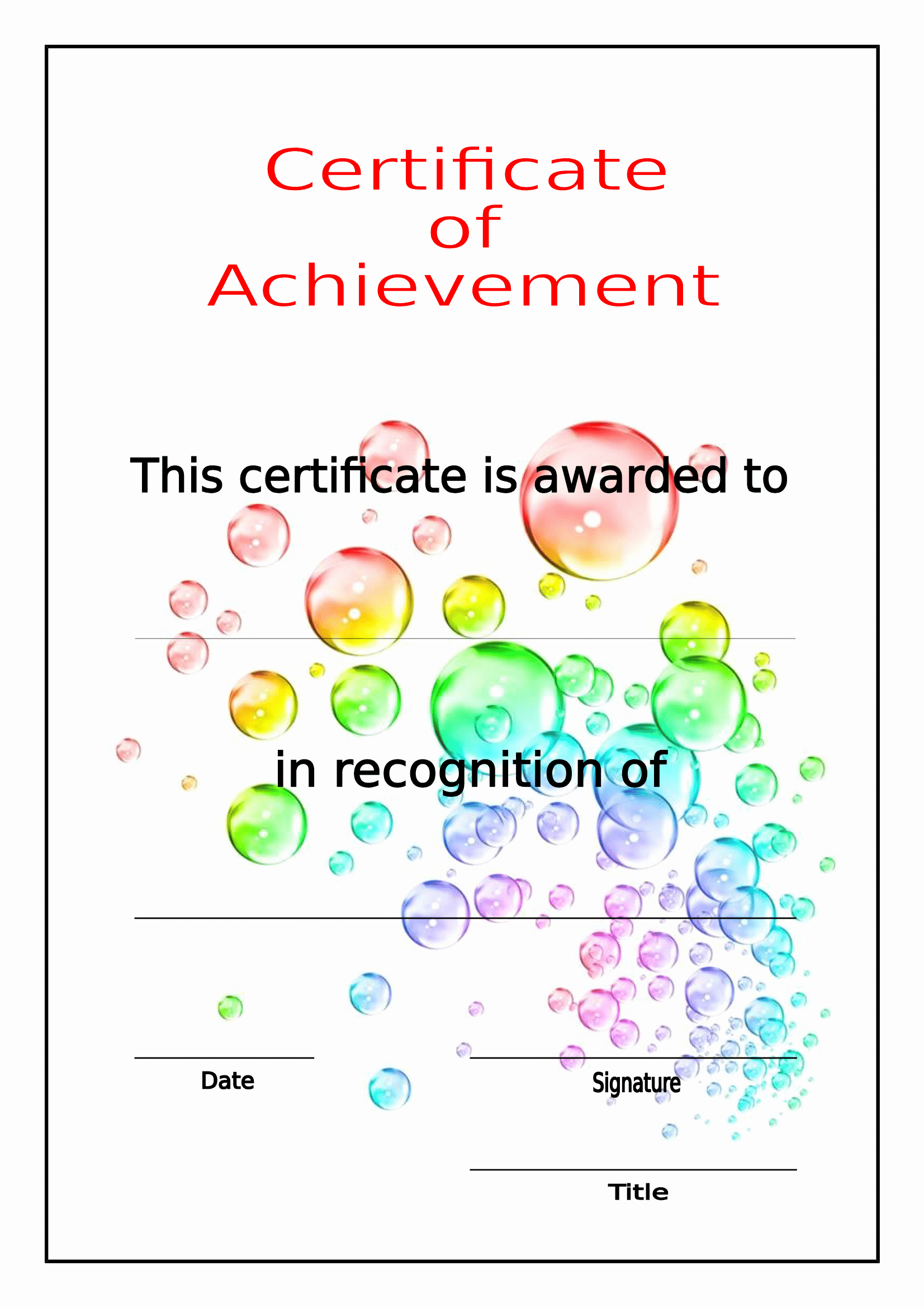 Certificate Of Achievement Template Free Unique Certificates Download Free Business Letter Templates