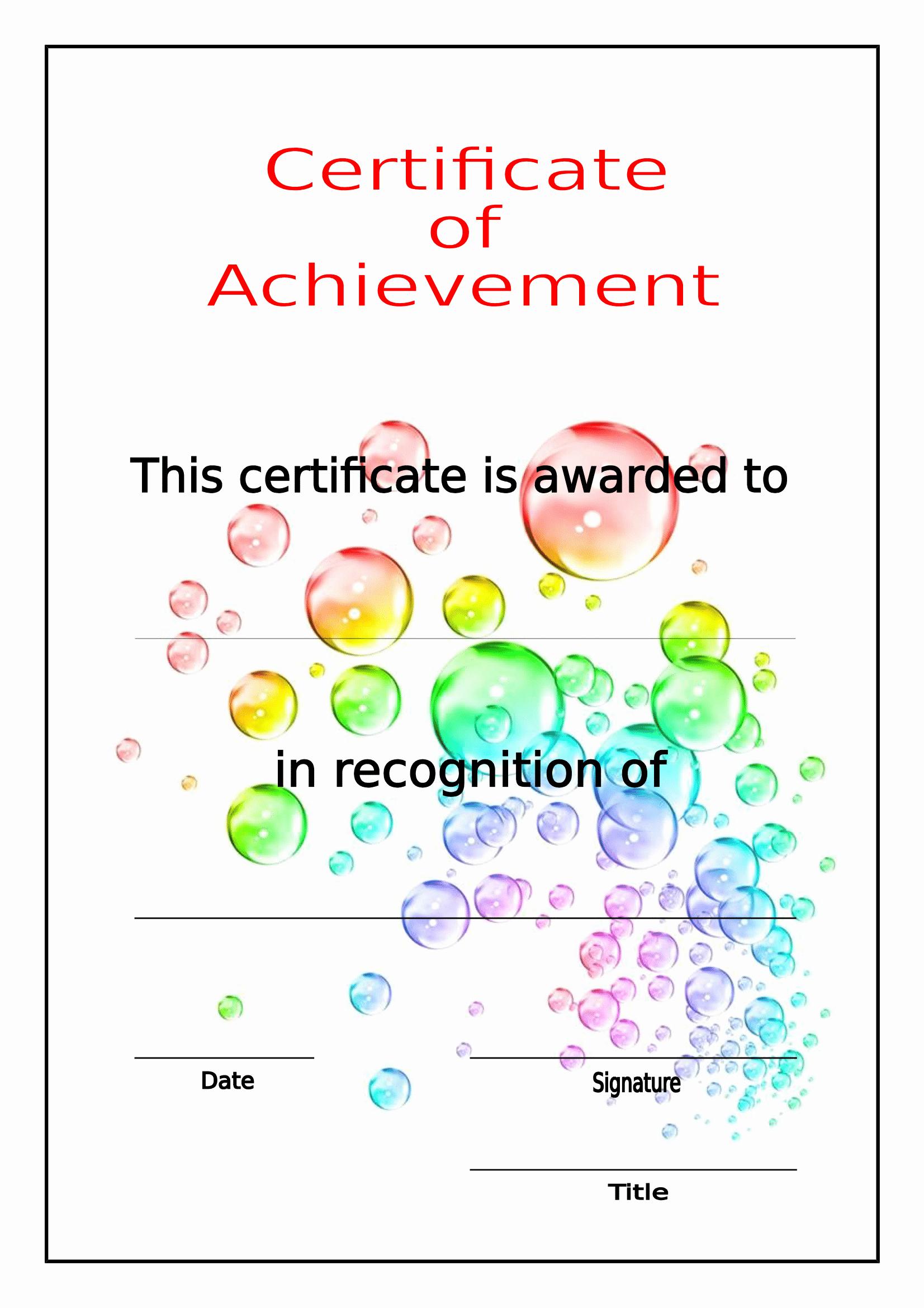 Certificate Of Achievement Template Free Unique Certificates Download Free Business Letter Templates